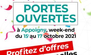 portes ouvertes à Auxerre de projinov menuiseries du 15 au 17 octobre 2021